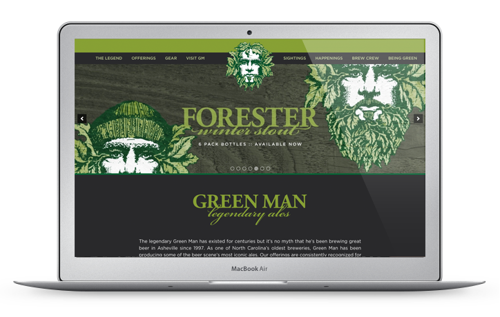 Green Man Brewing Homepage Design